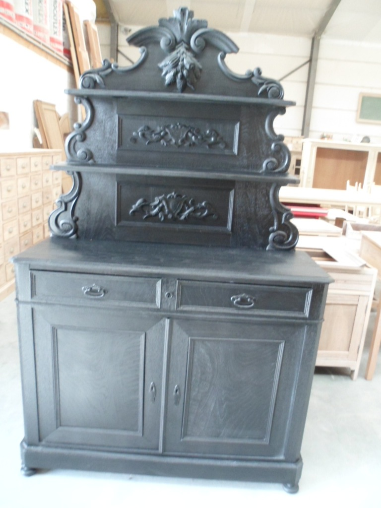 application d une lasure noire weng sur une ancienne commode meubelrenovatie. Black Bedroom Furniture Sets. Home Design Ideas