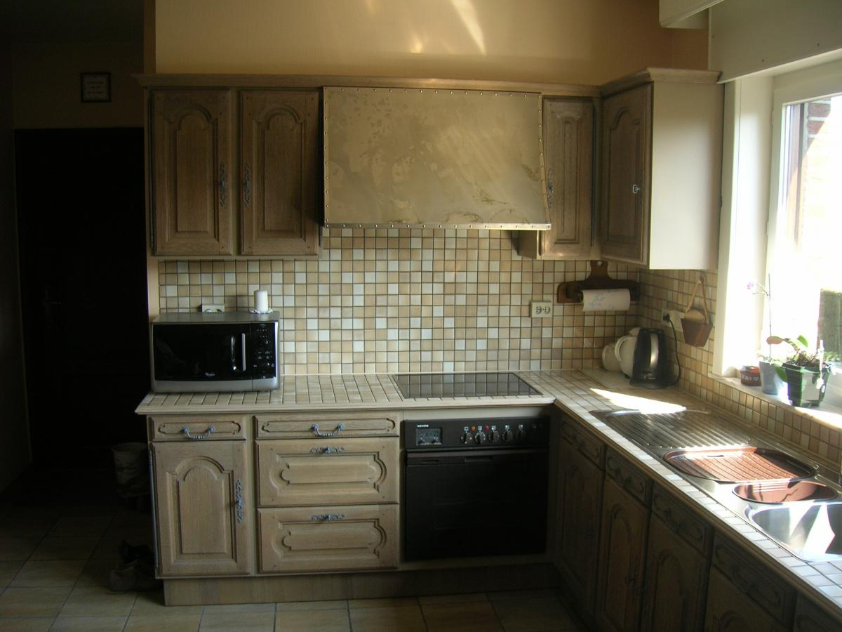 Eiken Keuken Opfrissen : Renovatie eiken keuken Anzegem Meubelrenovatie