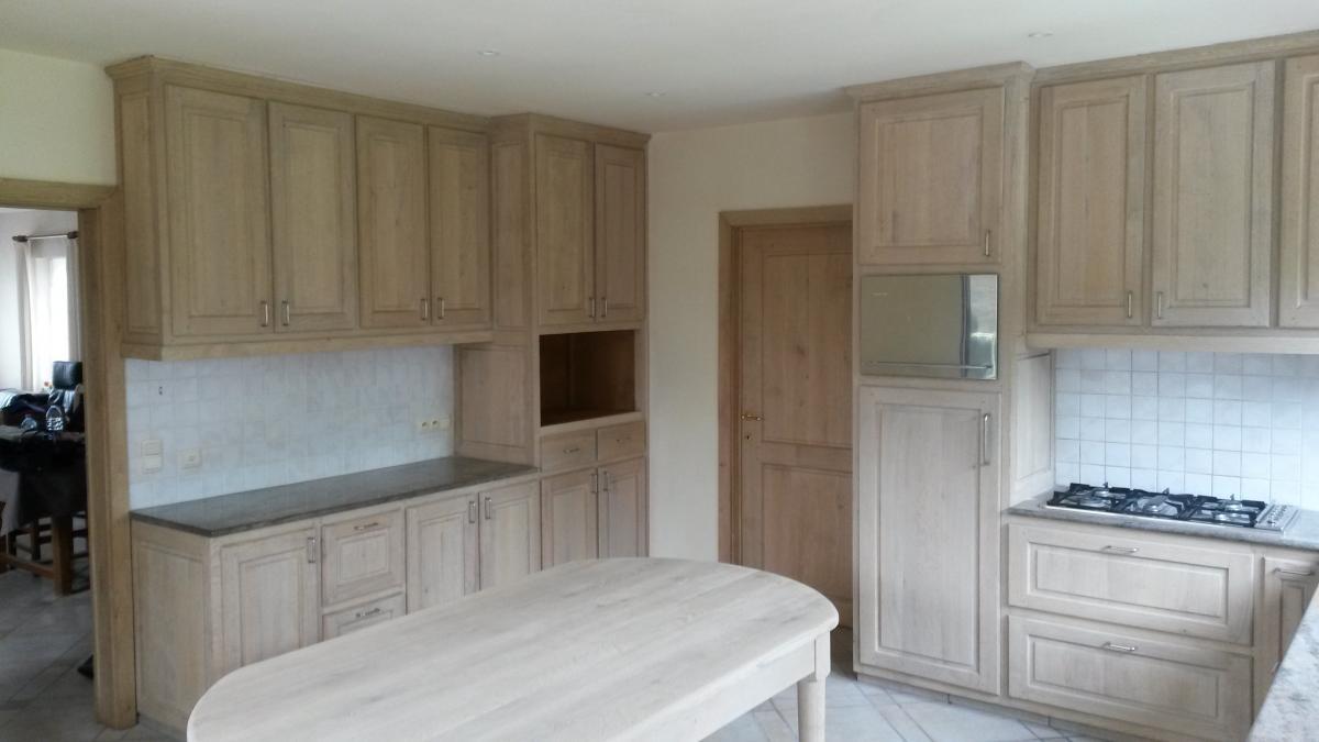 Eiken Keuken Zandstralen : Deze eiken keuken en deuren werden onlangs behandeld door