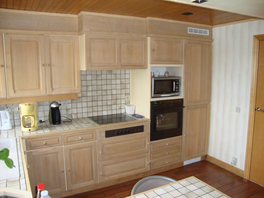 Eiken Keuken Zandstralen : Keuken na Zandstralen en renoveren Oostende Meubelrenovatie