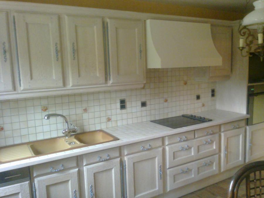 Eiken Keuken Verven Thuis : Renovatiekeuken Meubelrenovatie