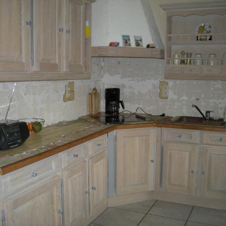 eiken keuken tijdens renovatie