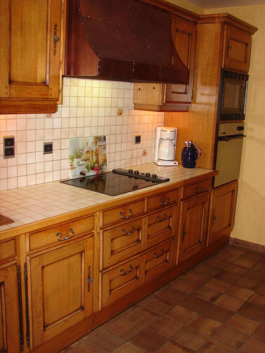 Eiken Keuken Schilderen : Bij deze keukenrenovatie voor klanten uit Geraardsbergen zijn we op